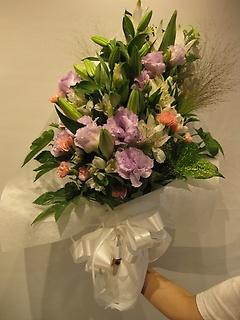 お悔やみ用 ホワイト系洋花の花束