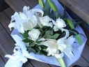 洋花 ホワイト系花束