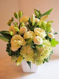 御供アレンジ white&green