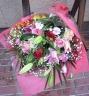 ボリューム満点!ユリとバラのゴージャスな花束
