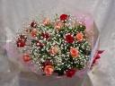 記念日に!バラとカスミソウの花束