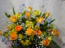 黄色・オレンジの華やかアレンジ