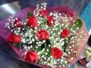 豪華なバラの花束