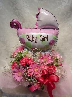 女の子が産まれたよ!!おめでとうのアレンジ