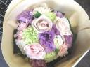 母の日「ピンクパープルブーケ」M