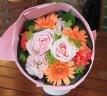 母の日「パステルブーケM」ピンク/オレンジ