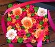 母の日「フラワーボックスLL」ピンク/オレンジ