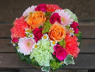 やっぱり薔薇「ローズアレンジL」ピンク/オレンジ