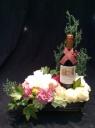 ワイン付アレンジメント<ピンク&ホワイト>