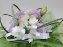 白と淡い紫のお供え花アレンジメント