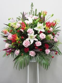 ピンクバラスタンド花C2297
