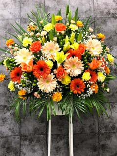 オレンジスタンド花 FR2612
