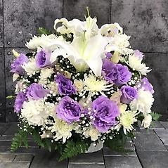 【供花】菊とカーネーションのMIXアレンジWPP (H40)