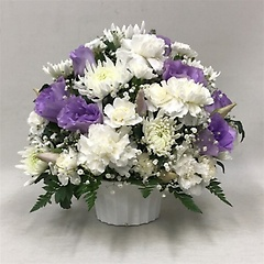 【供花】菊とカーネーションのMIXアレンジWPP(H26)