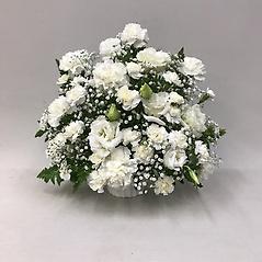 【供花】カーネーションとカスミソウのアレンジメントW(H40)