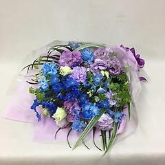 ブルーパープルの花束