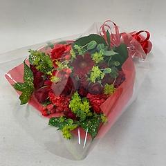 赤の花束!