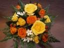 バラのアレンジ イエロー×オレンジ