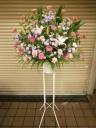 ピンクバラのスタンド花1段
