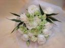 お供え花束 ホワイト×グリーン