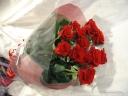 当店オススメの赤ばらの花束