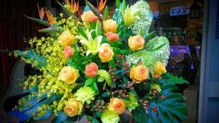 御祝いスタンド花 ビビッドカラー2