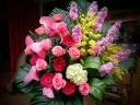 御祝いスタンド花 ピンクシフォン
