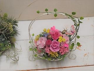 アンティーク花器のラブリーローズ