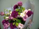 パ-プル系花束