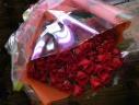 還暦の赤いバラの花束