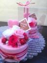 フラワーデコレーションケーキ ストロベリー