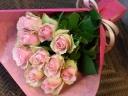 ピンク薔薇10本の花束