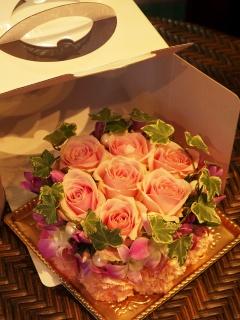 ☆パステルピンク薔薇のフラワーケーキ☆