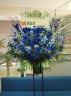 公演や開店・お祝に!スタンド花ブルー