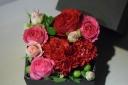 BOX FLOWER ~ HEART RED