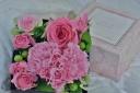 BOX FLOWER ~HEART PINK