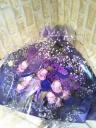 パープル・バイオレットカラーの花束
