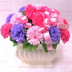 幸せな日々 ピンク系ソープフラワー/sf081