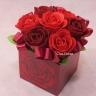 赤薔薇のソープフラワー SF86