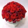 赤薔薇メインのプリザーブドフラワー P344
