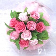 ピンク色の愛(中) ソープフラワー SF016B