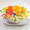幸せを運ぶ黄色とオレンジ系の花たち/P308