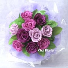 紫色の愛(中) ソープフラワー SF017B