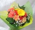 イエロ、オレンジ系の花束 B1008