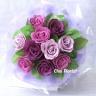 紫色の愛(中) ソープフラワー花束 SF017B