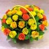 黄色とオレンジ系バラのソープフラワー(SF038)