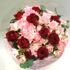 赤バラの花束/B089