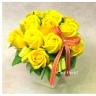 黄色バラのソープフラワー  sf059