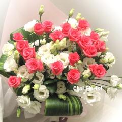 ピンクバラの花束/B072