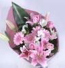 ピンク色の花束/B108